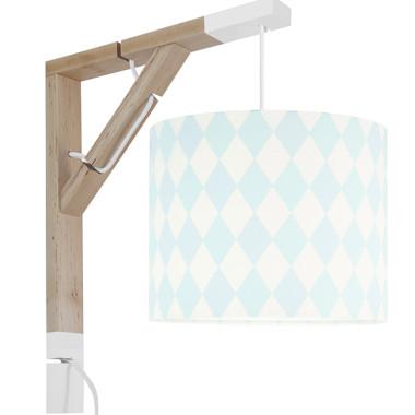 Lampa typu kinkiet nad biurko, idealne oświetlenie do pracy lub czytania. Styl skandynawski.