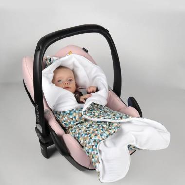Cyrk - pikowany śpiworek/otulacz do fotelika samochodowego