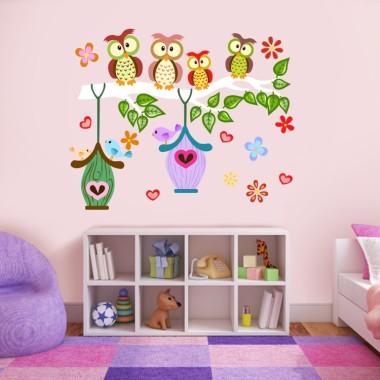 Zestaw do dekoracji pokoi dziecięcych, samoprzylepna naklejka ścienna