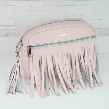 Średnia, modna i elegancka skórzana torebka