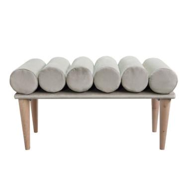 Ławka Yoko - miękka tapicerowana designerska ławka do przedpokoju, sypialni, salonu