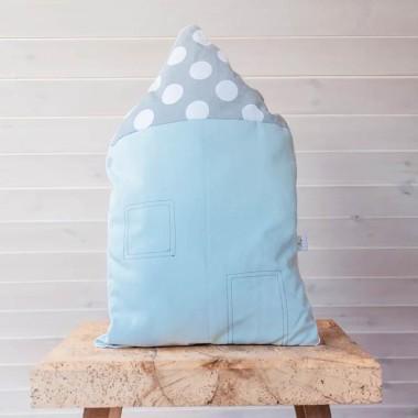 Poduszka Small House Light Blue