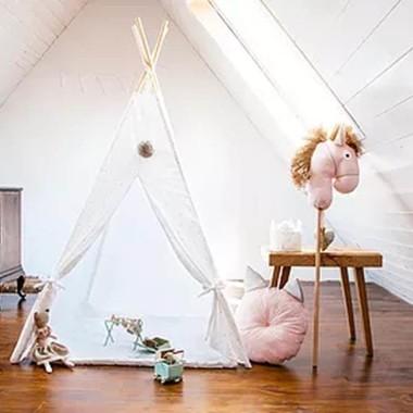 Indiański namiot, świetny do zabawy w domu i w plenerze.