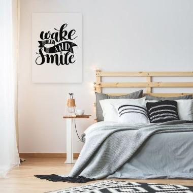 Bardzo modny i nowoczesny obraz z sentencją . Przepiękna i bardzo dekoracyjna kaligrafia do sypialni.