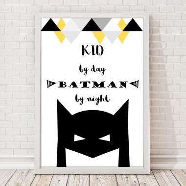 Batman i żartobliwe hasło. Plakat do pokoju chłopca.