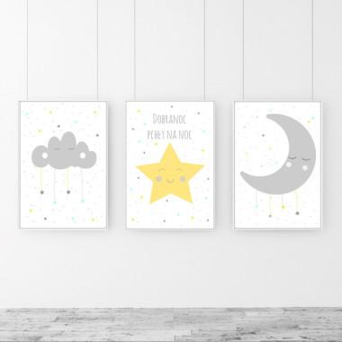 Tryptyk - plakaty do pokoju dziecka.
