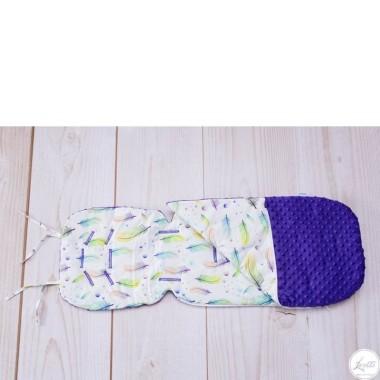Bawełniany dwufunkcyjny śpiworek letni. Przytulny i miękki, kolor dla chłopczyka.