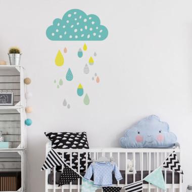 Urocza dekoracja w pastelowych kolorach. Do pokoju dziecka lub do sypialni.