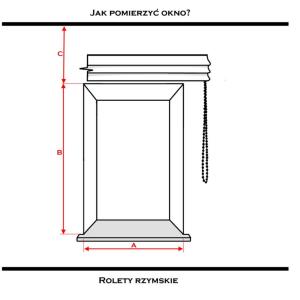 Wymiarowanie okna - rolety rzymskie