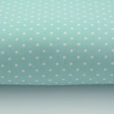 Bawełniane zasłony w miętowym kolorze idealne do pokoju niemowlaka. Pasują też do sypialni a nawet kuchni.