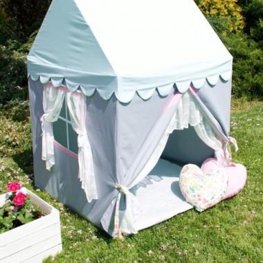 Bezpieczny domek-namiot dla dziewczynki. Wspaniała zabawa w domu, na tarasie, w ogródku, w plenerze.
