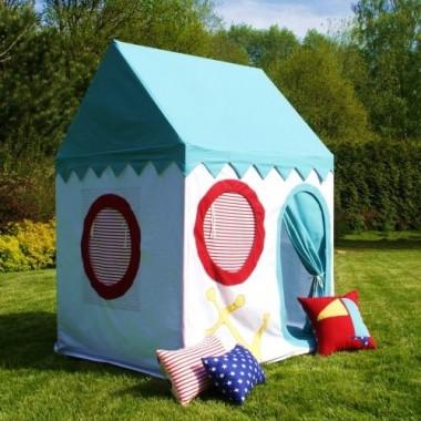 Lekki, przewiewny, bezpieczny domek-namiot. Wspaniała zabawa w domu, na tarasie, w ogródku, w plenerze.
