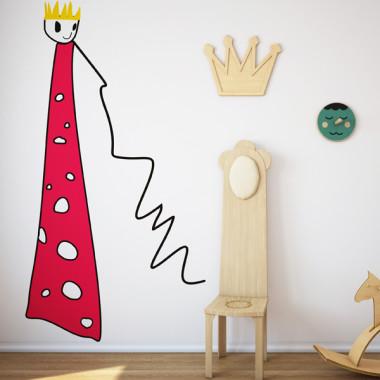 Królewna - mural. Tapeta do pokoju dziecka.