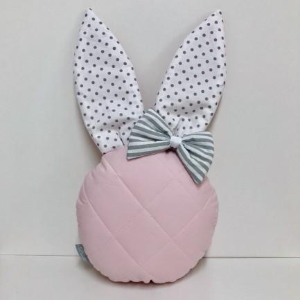 KRÓLIK MINI - pikowana poduszeczka dla dzieci w kształcie króliczka