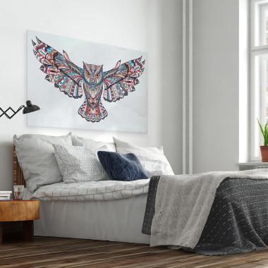 Indiańskie mądrości - nowoczesny obraz do sypialni