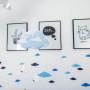 Dekoracja w kształcie chmurki do powieszenia na ścianie lub nad łóżeczkiem