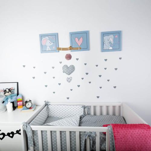 Serduszko - Dekoracja do zawieszenia nad łóżeczkiem lub na ścianie