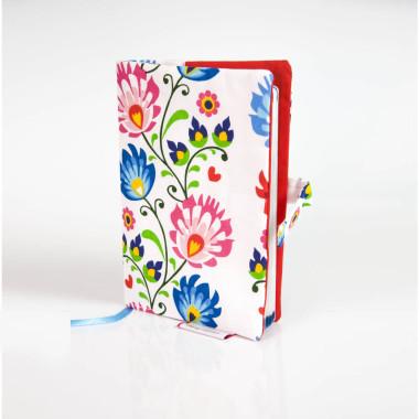 Okładka, etui na książeczkę zdrowia kwiaty łowickie