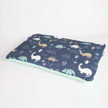 Płaska poduszka do łóżeczka 40x60 dinozaury
