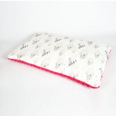 Płaska poduszka do łóżeczka 40x60 fuksjowe łapacze