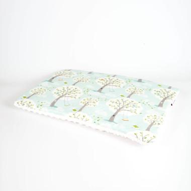 Płaska poduszka do łóżeczka 40x60 las ecru