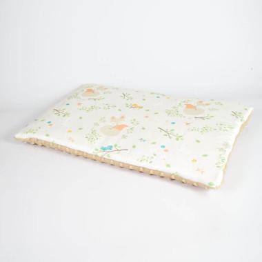 Płaska poduszka do łóżeczka 40x60 lisek