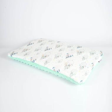 Płaska poduszka do łóżeczka 40x60 miętowe łapacze
