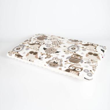 Płaska poduszka do łóżeczka 40x60 sowy