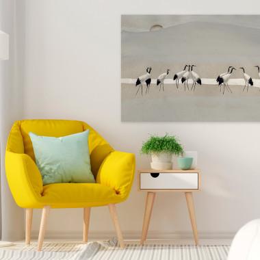 Bractwo żurawi - nowoczesny obraz na płótnie