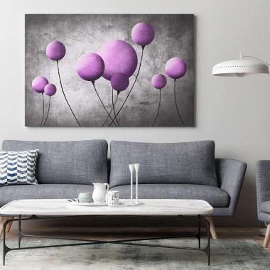 Szkarłatny balonik - nowoczesny obraz na płótnie