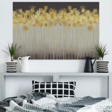 Złoty deszcz - nowoczesny obraz na płótnie