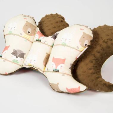 Motylek, poduszka, minky bawełna zwierzaki dwustronnie - M&C