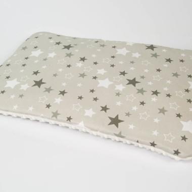 Płaska poduszka 40x60 minky, bawełna gwiazdy ecru - M&C