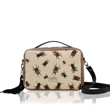 TOREBKA HANZA - modna torebka ze skóry ekologicznej  w kolorze brązowym