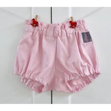 Różowe spodenki bloomersy bawełniane dla dzieci