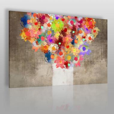 Fontanna kolorów - nowoczesny obraz na płótnie z motywem kwiatowym