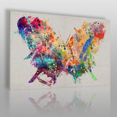 Motylarium - nowoczesny obraz na płótnie