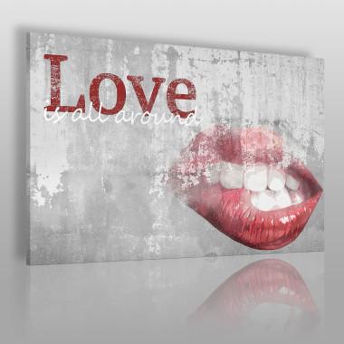Love is all around - nowoczesny obraz na płótnie