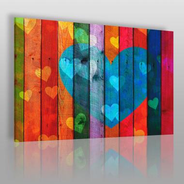Dziesięć przykazań miłości - nowoczesny obraz do sypialni