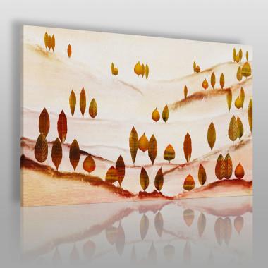 Las liściasty - nowoczesny obraz do sypialni