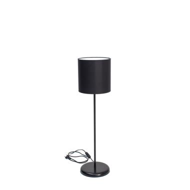 Lampa SLIM biurkowa czarna z czarnym abazurem