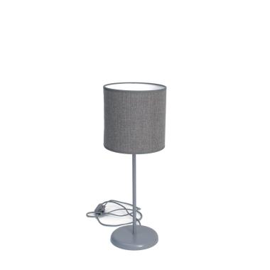 Lampka SLIM szara z szarym abażurem