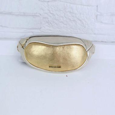 Solidna, elegancja, wygodna damska nerka w kolorze złotym