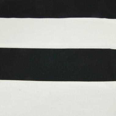 Czarno-biała zasłona z grubej bawełny szyta na wymiar