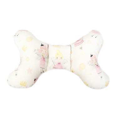 delikatna, miękka, antyalegriczna poduszka w kształcie motylka z wróżką z różowym milky w gwiazdki