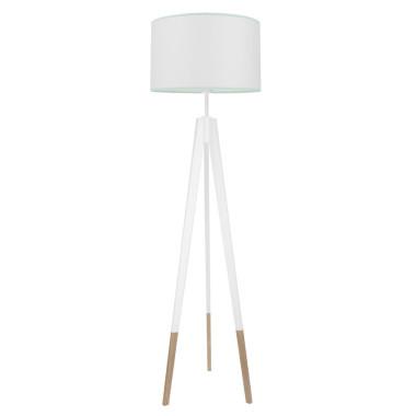 youngDECO lampa podłogowa trójnóg biały w skarpetkach biel z miętą
