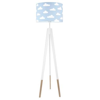 youngDECO lampa podłogowa trójnóg biały w skarpetkach chmurki na błękitnym