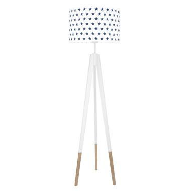 youngDECO lampa podłogowa trójnóg biały w skarpetkach gwiazdki granatowe