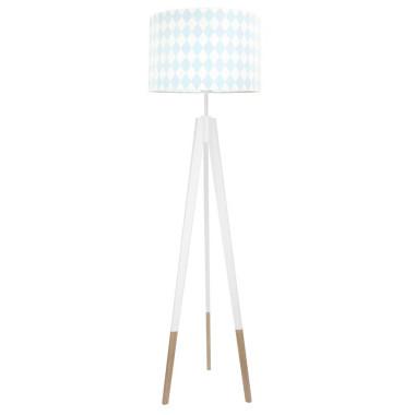 youngDECO lampa podłogowa trójnóg biały w skarpetkach romby pastelowe