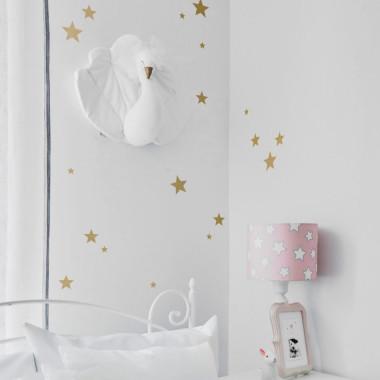 Naklejki na ścianę do pokoju dziecka-gwiazdki złote